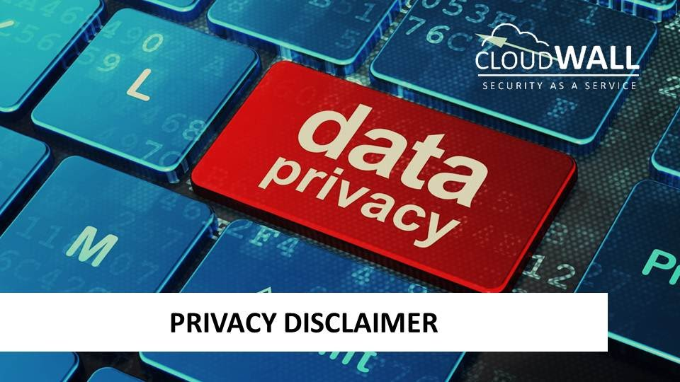 Privacy disclaimer